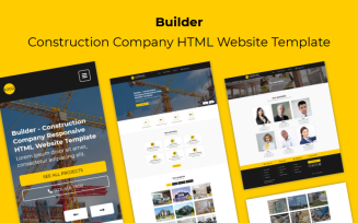 Builder - Construction Company Responsive HTML Website Template