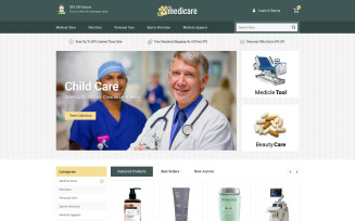 Medicare - Pharmacy & Drug PrestaShop Theme