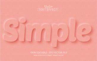 Neumorphism Style Editable Text Effect Vector