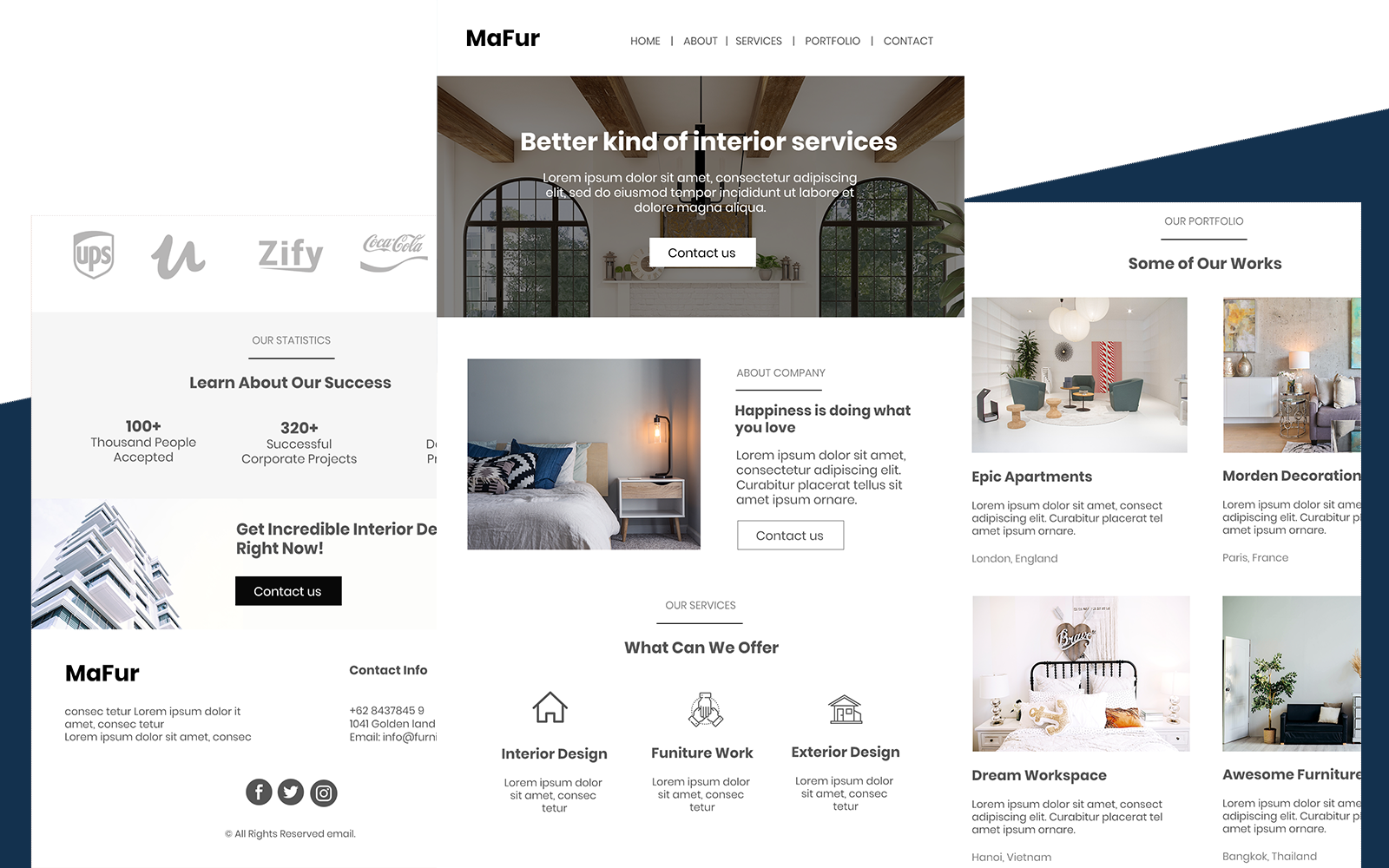 Mafur - Multipurpose Furniture Email Newsletter Template