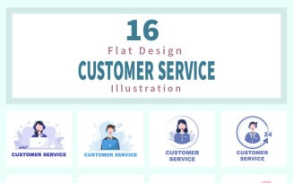 16 Contact Us Customer Service Illustration