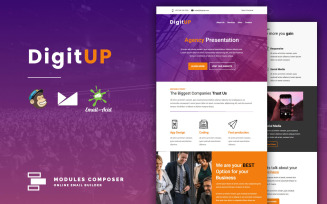 DigitUP – Responsive Email for Agencies, Startups & Creative Teams