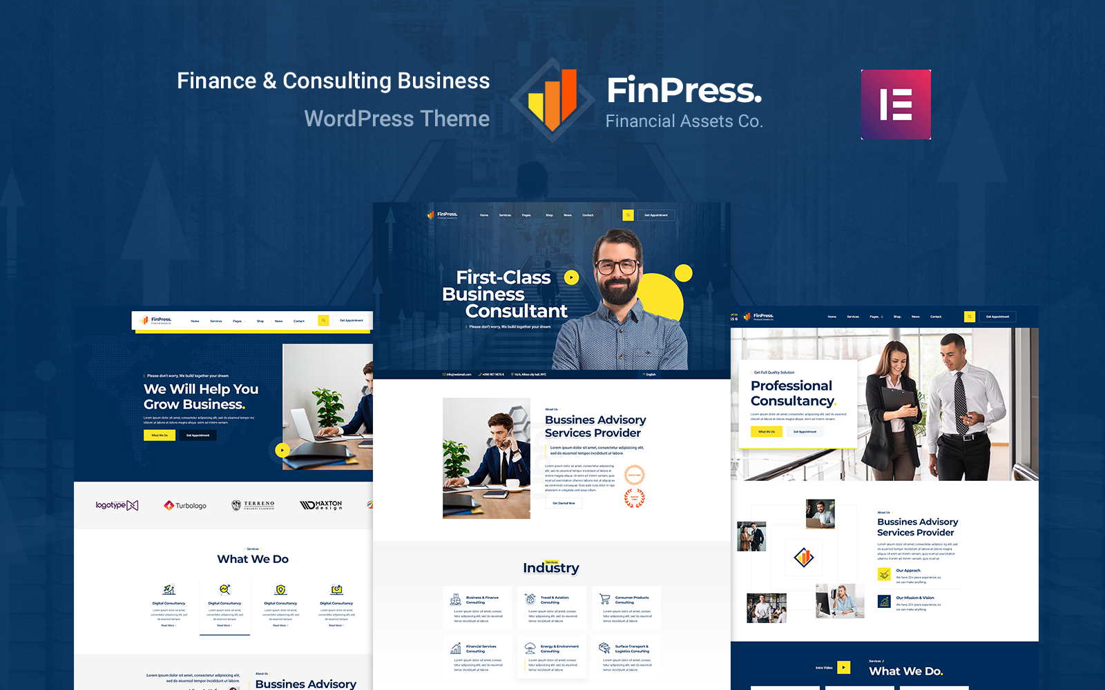 Finpress - Business Consulting WordPress-thema