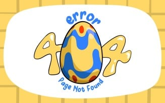 FREE Cute Easter Bunnies 404 Error Message (Page Not Found) Illustration