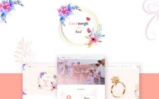 Lovemegh - Responsive Html Template for Weddings Website template