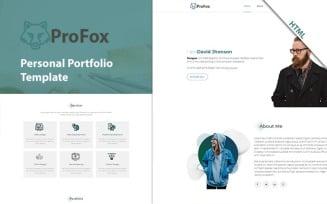 Profox- Responsive Personal Portfolio HTML Website Template