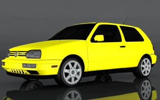 Volkswagen Golf GTI 1998 3D Model
