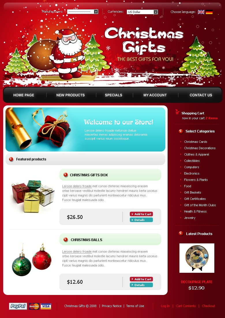 Christmas CRE Loaded Template #17542