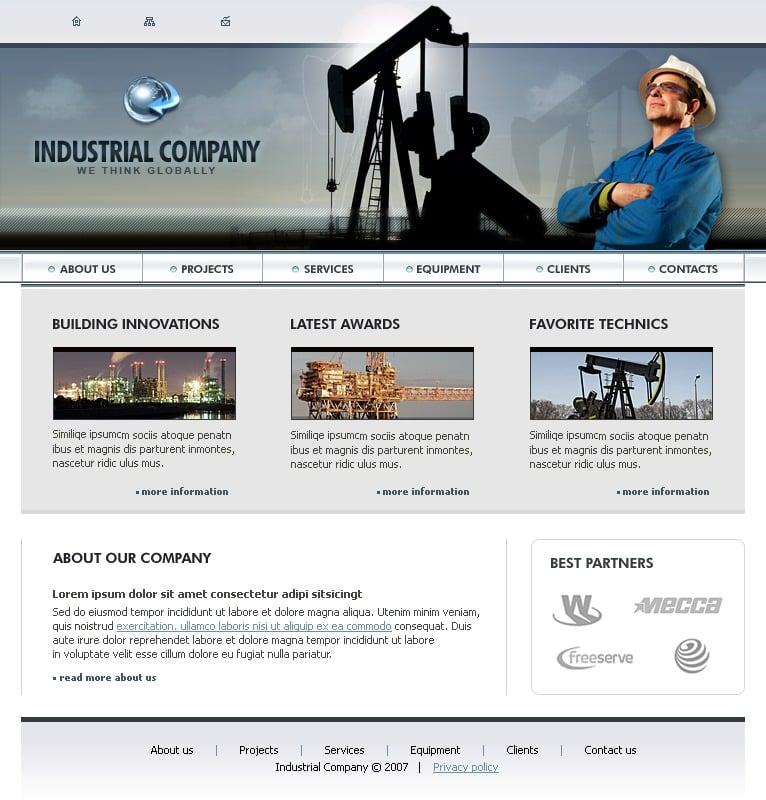 gas oil website template 17563. Black Bedroom Furniture Sets. Home Design Ideas
