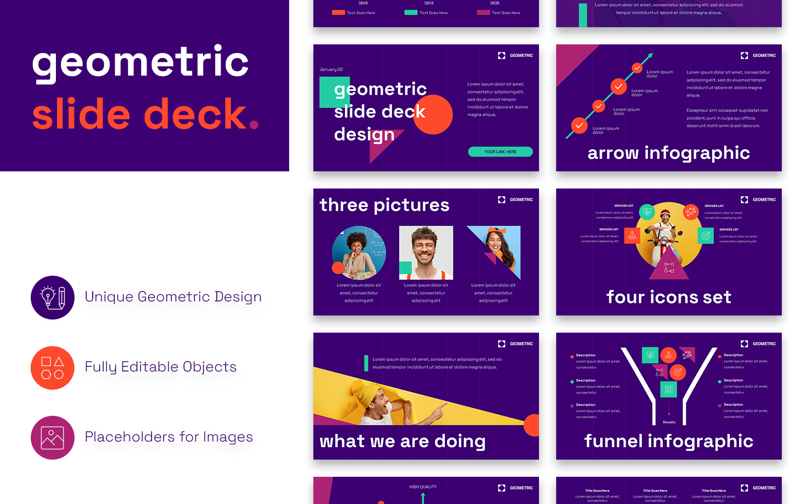 Modern Geometric Presentation PowerPoint Template