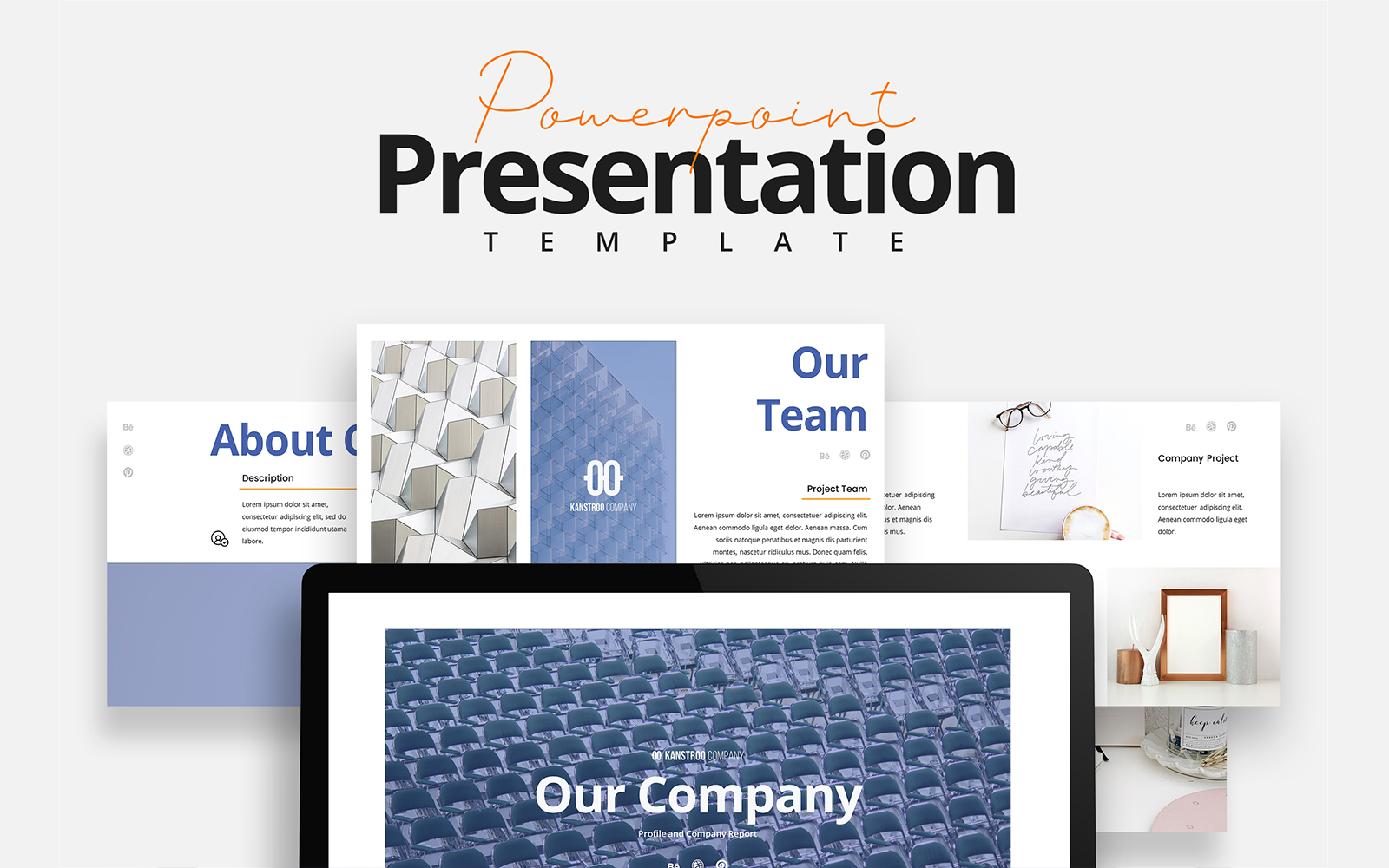 Clean and Neat Company Pitch Deck PowerPoint Template