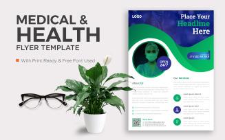 Free Medical Business Flyer Poster Pamphlet Brochure Cover Design Layout