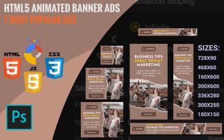 Ashen - HTML5 Animated Banner Template