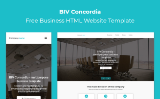 BIV Concordia - Free Business HTML Landing Page Template