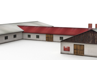 Free Cowshed 3D Model