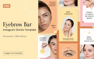 Free Instagram Story Template Beauty Eyebrow Bar