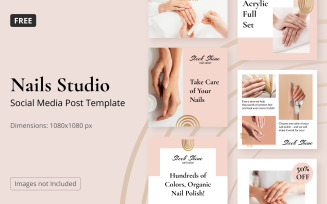 Free Instagram Template Nail Salon Posts