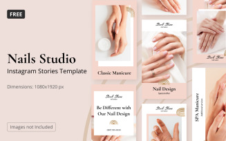 Free Instagram Template Nail Salon Stories