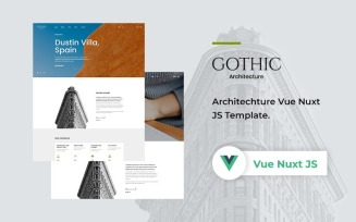 Gothic - Architecture Vue Nuxt JS Website Template