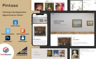 Pintaso - Art Gallery Stencil BigCommerce Template