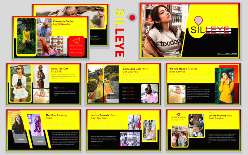 SILLEYE- 2021 fashion trends Presentation PowerPoint Template