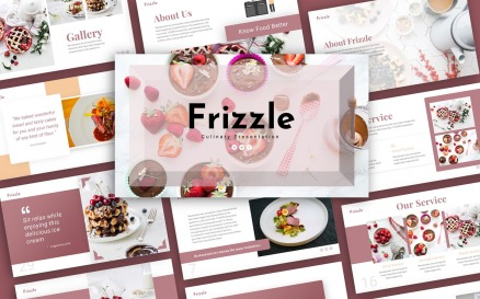 Frizzle Culinary Presentation PowerPoint Template