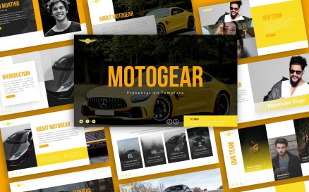 Motogear Automotive Presentation PowerPoint Template