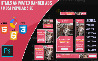 Rosy - Animated Html5 Banner Template
