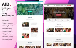 AID - Multipurpose Nonprofit and Charity Landing Page Template