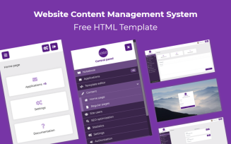 Free Website Content Management System HTML Admin Template