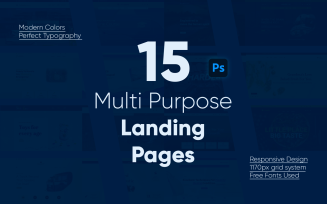 Multi Purpose Landing Pages PSD Template