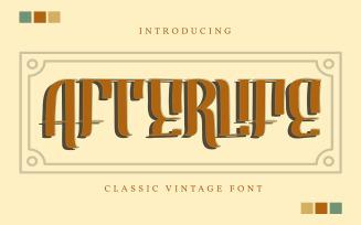 Afterlife | Classic Vintage Font