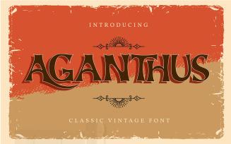 Aganthus | Classic Vintage Font