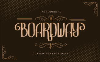 Boardway | Classic Vintage Font