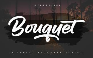 Bouquet | A Simpely Wetbrush Script Font