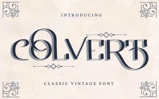 Colvert | Classic Vintage Font