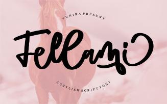 Fellami | A Stylish Script Font