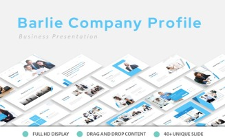 Free Barlie Company Profile PowerPoint Template