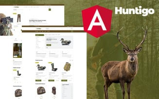 Huntigo - Hunting & Ammunition Angular Template