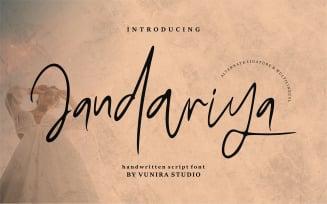 Jandariya | Handwritten Script Font