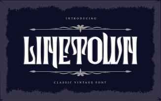 Linetown | Classic Vintage Font