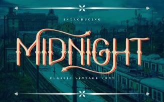 Midnight | Classic Vintage Font