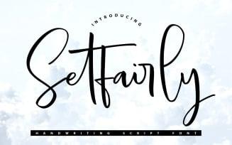 Setfairly   Handwriting Script Font