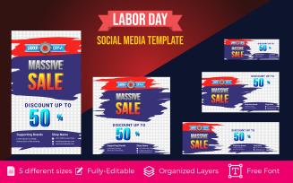Social Media Banner design for Happy Labor Day