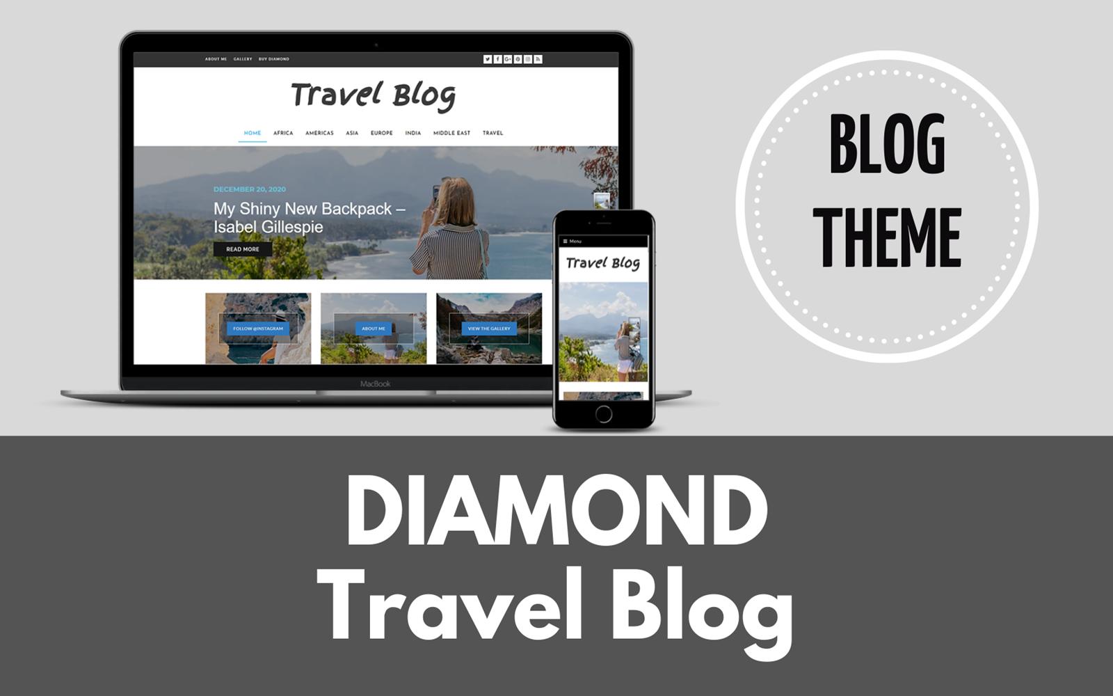 Diamond WordPress Travel Theme