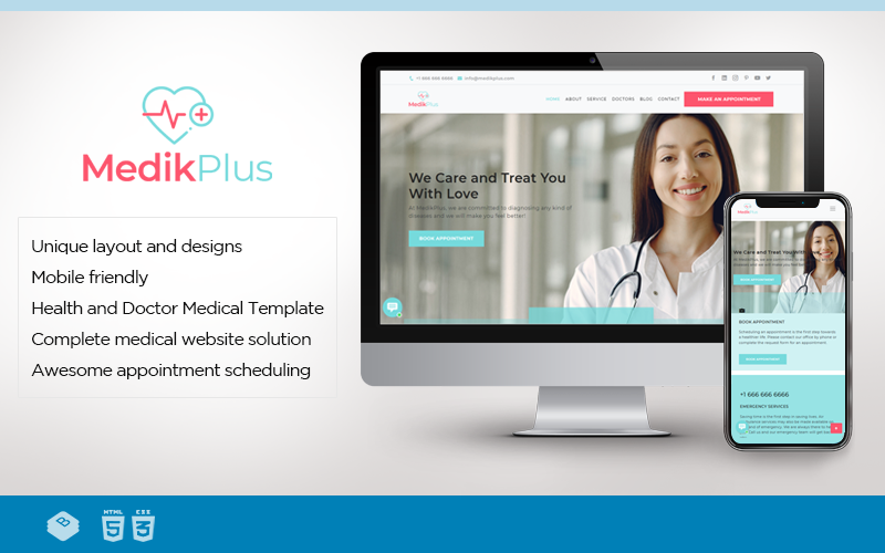 MedikPlus | Medical and Healthcare Website Template