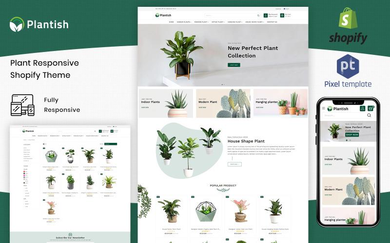 Plantish - Gardening & Houseplants Shopify Template Shopify Theme