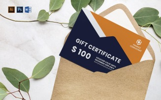 Professional Finance Consultant Gift Certificate Template
