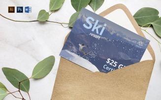Professional Ski Resort Gift CertificateTemplate