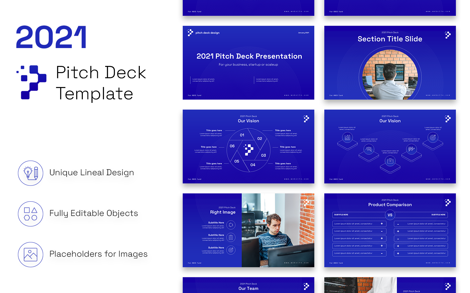2021 Pitch Deck Clean Presentation PowerPoint Template